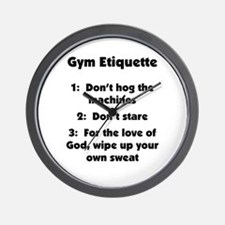 Gym Etiquette Smaller Product Wall Clock