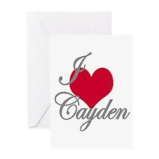 I love (heart) Cayden Greeting Card