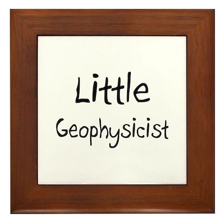 Little Geophysicist Framed Tile