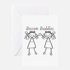 Bosom Buddies Greeting Card