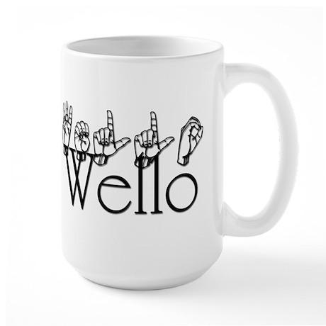 W Large Mug