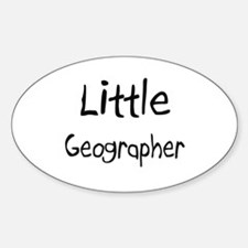 Little Geographer Oval Decal