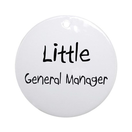 Little General Manager Ornament (Round)