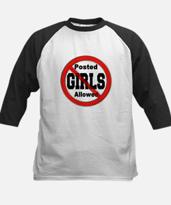 Posted No Girls Allowed Kids Baseball Jersey