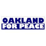 Oakland for Peace (bumper sticker)