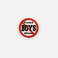 Posted No Boys Allowed Mini Button