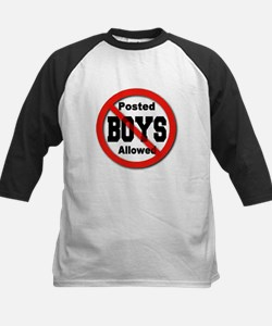 Posted No Boys Allowed Kids Baseball Jersey