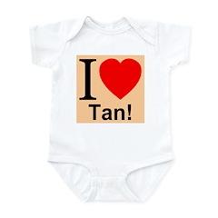 I Love Tan Infant Creeper