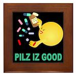 Pilz Is Good Framed Tile