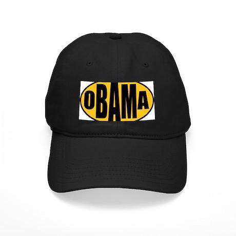 Gold Oval Obama Black Cap