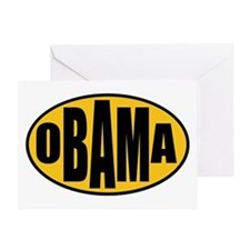 Gold Oval Obama Greeting Card