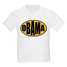 Gold Oval Obama T-Shirt