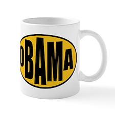 Gold Oval Obama Mug