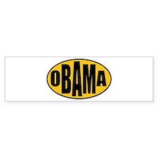 Gold Oval Obama Bumper Bumper Sticker