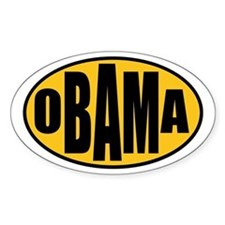 Gold Oval Obama Oval Decal