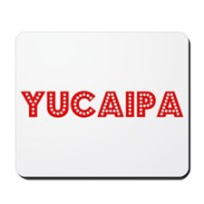 Retro Yucaipa (Red) Mousepad