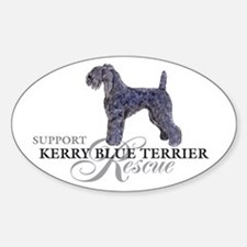Kerry Blue Rescue Oval Decal