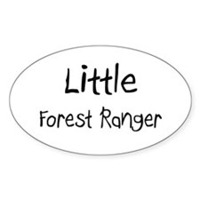 Little Forest Ranger Oval Decal