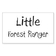 Little Forest Ranger Rectangle Decal