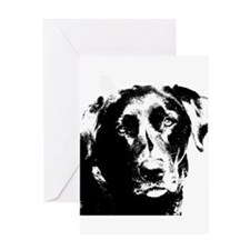 labrador retriever, dog Greeting Cards