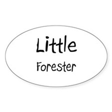 Little Forester Oval Decal
