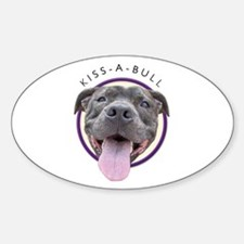 Kiss-A-Bull Oval Decal