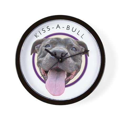 Kiss-A-Bull Wall Clock