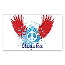 Alaska Peace Rectangle Decal