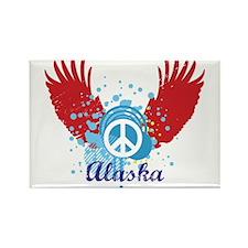 Alaska Peace Rectangle Magnet