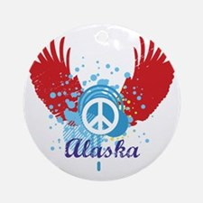 Alaska Peace Ornament (Round)