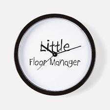 Little Floor Manager Wall Clock
