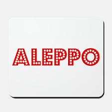 Retro Aleppo (Red) Mousepad