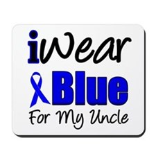 I Wear Blue For My Uncle Mousepad