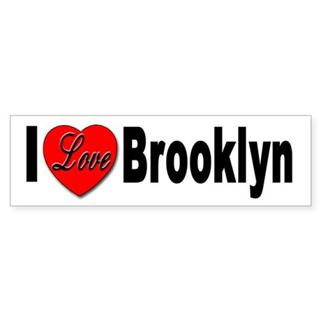I Love Brooklyn New York Bumper Sticker