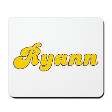 Retro Ryann (Gold) Mousepad