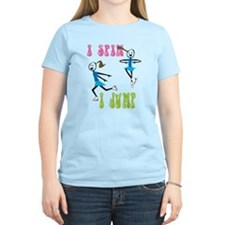 i spin, i jump Ice Skating T-Shirt