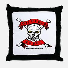 Oilfield Rebel Throw Pillow