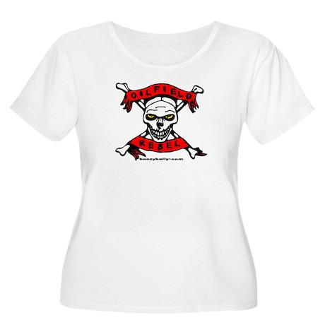 Oilfield Rebel Women's Plus Size Scoop Neck T-Shir