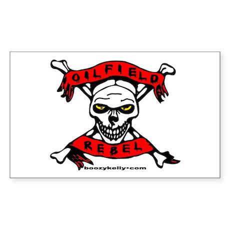 Oilfield Rebel Rectangle Sticker