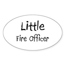 Little Fire Officer Oval Sticker