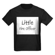 Little Fire Officer Kids Dark T-Shirt