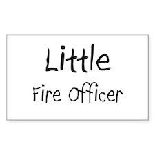 Little Fire Officer Rectangle Sticker