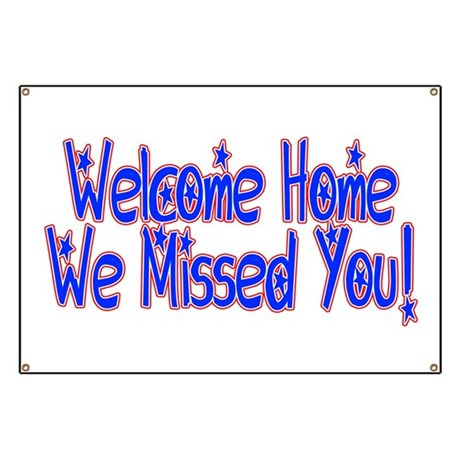 navy welcome home banners  u0026 signs