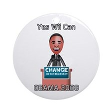 Yes Wii Can Ornament (Round)
