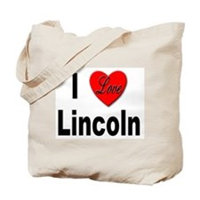 I Love Lincoln Nebraska Tote Bag