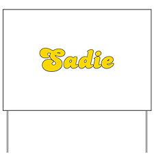 Retro Sadie (Gold) Yard Sign