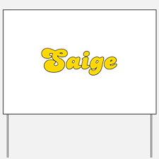 Retro Saige (Gold) Yard Sign