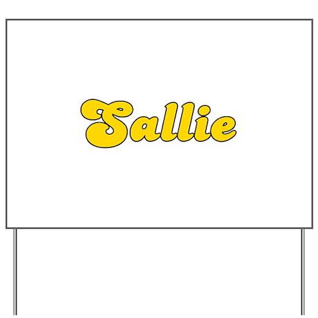 Retro Sallie (Gold) Yard Sign