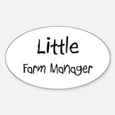 Little Farm Manager Oval Decal