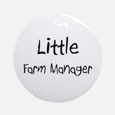 Little Farm Manager Ornament (Round)